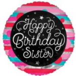 "HAPPY BIRTHDAY SISTER BALLOON  18""  15173-18"